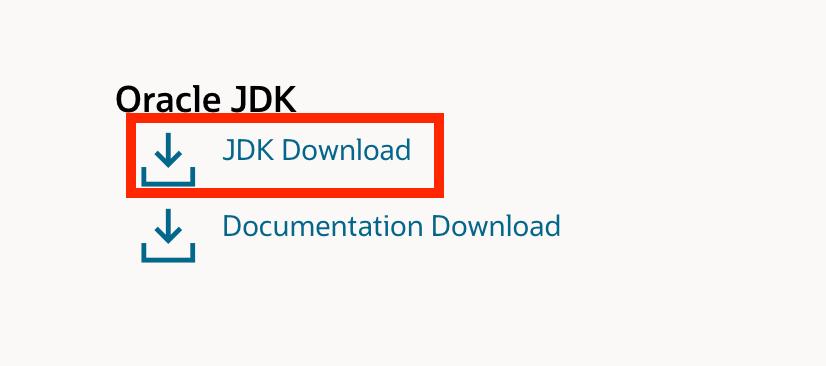 JDKのダウンロード