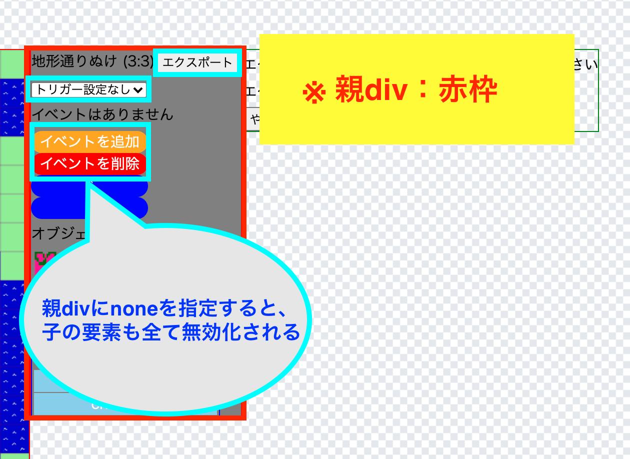 pointer-eventsプロパティにnoneを指定した画像