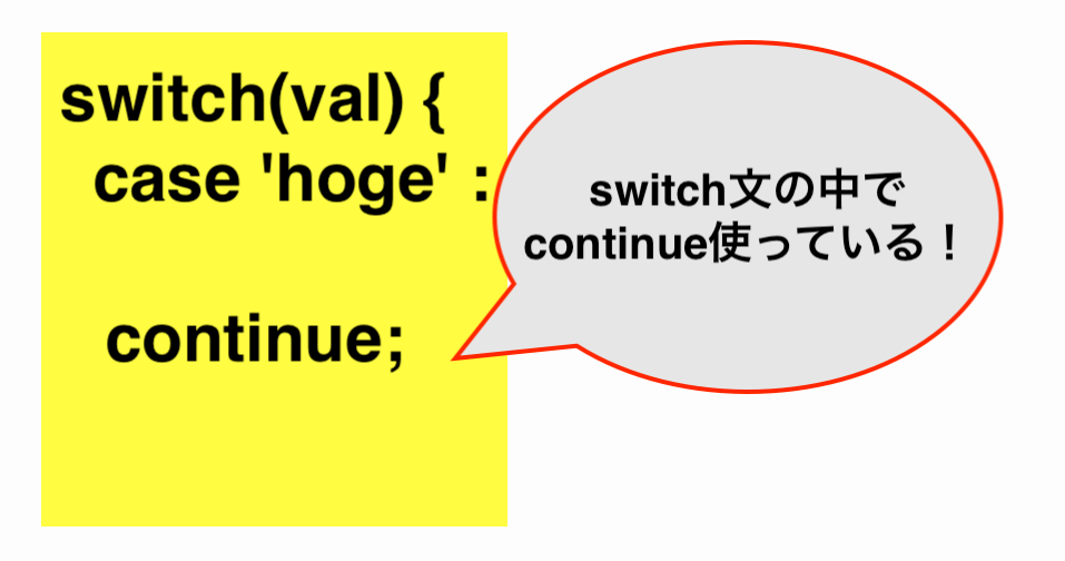 """Warning: """"continue"""" targeting switch is equivalent to """"break"""". Did you mean to use """"continue 2"""