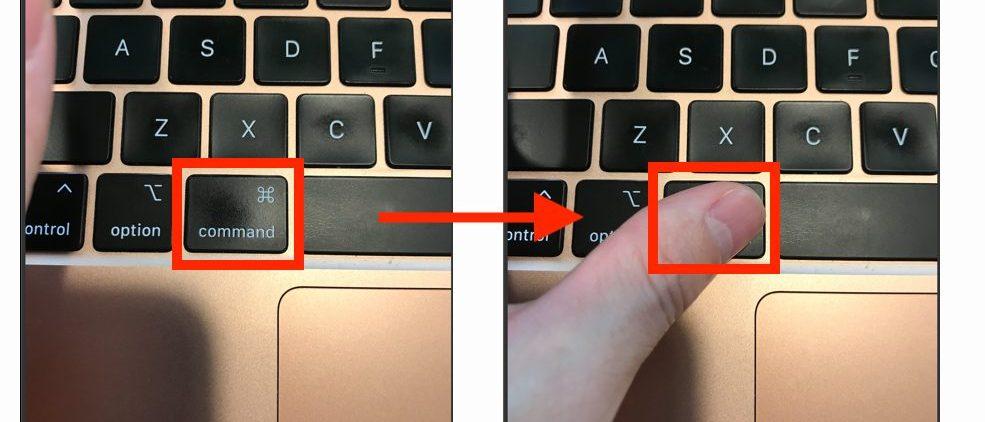 ワードプレスのショートカットキーを押さえる画像(commandキー)